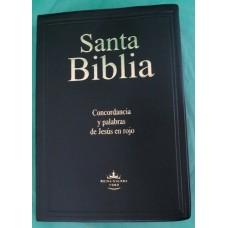 BIBLIA-CONCORDANCIA  VINIL NEGRA PALABRAS JESUS ROJO